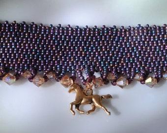 Purple horse choker (#1)