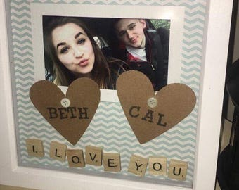 Personalised 3D photo frame.