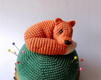 Crochet Pincushion Fox