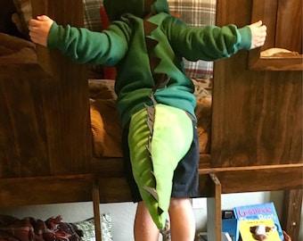 Dinosaur Sweatshirt, Dinosaur Hoodie, Dinosaur Costume, Boy Costume, T Rex, Dino Party, Dino Tail, Godzilla, Crocodile, Alligator