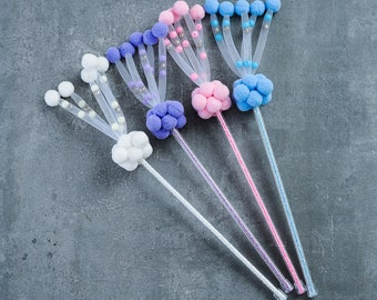 cat toys cat teasers cat wand pet supplies handmade with pompons