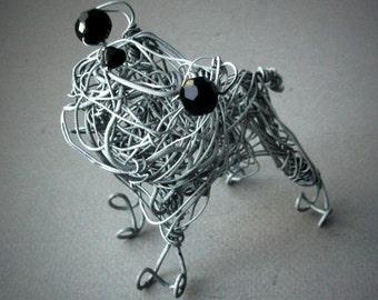 Made to Order Pet Keepsake, Custom Gift Idea Pet Lover,  Custom Decor,  Beloved Pet Dog Gift, Wire Sculpture,Dog Portrait