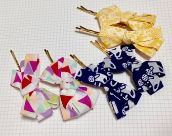 LIBERTY hair accessory , LIBERTY bow hair clip, hair pin, handmade hair accessory, bow hair pin, ribbon hair pin