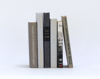 Set of vintage french books / 6 shades of grey / French literature / Decorative books / Set of 6 french books