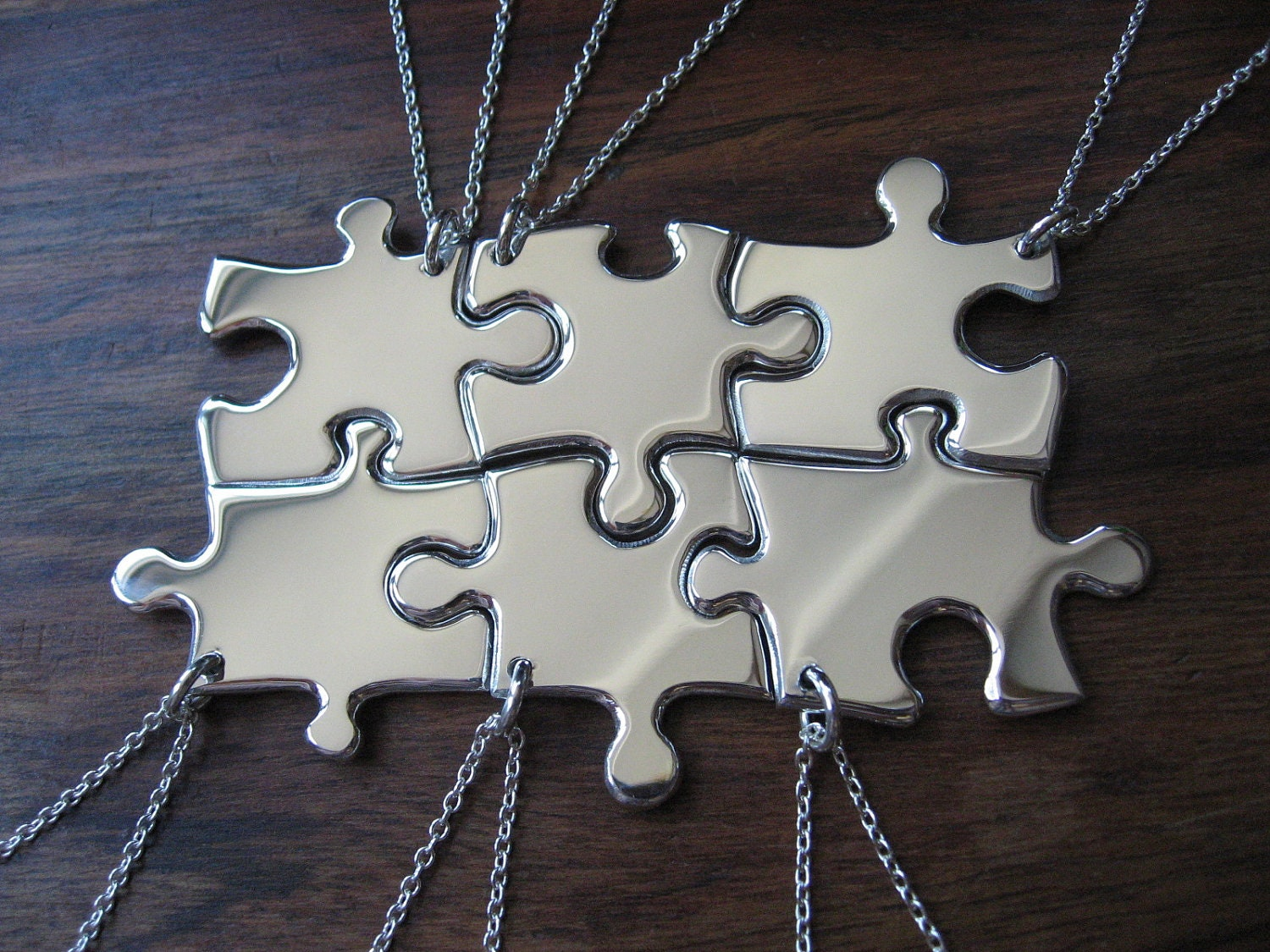 rose jigsaw piece deyong by necklaces image plated puzzle silver gold david necklace amp sterling