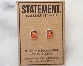 Bridget Jones / Renee Zellweger Celebrity / Actress Face / Head Stud Earrings - 1 pair