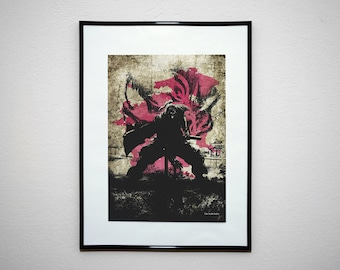 NIOH Inspired Print - The Irish Sailor. Minimalist Wall Art Print Poster.