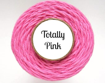 Solid Pink Bakers Twine by Trendy Twine - Totally Pink - Valentine Bakers Twine