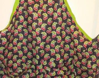 Retro cherry apron