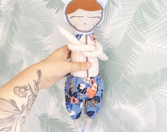 Precious fabric shorts with socks for kids or decoration