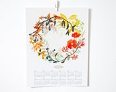 2016 Happiness Wreath Wall Calendar