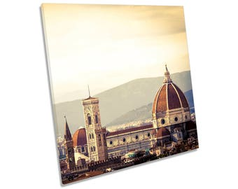 Italy Florence Sunset City CANVAS WALL ART Square Print