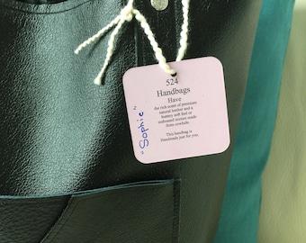 Batik lined Black leather