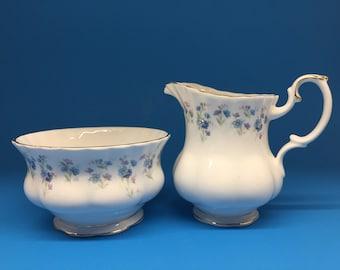 Royal Albert Memory Lane Sugar Bowl and Creamer
