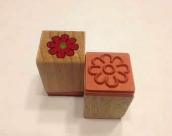 small flower rubber stamps, 15 mm (SB1)