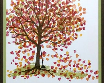 Thank You Card, Handmade Card, Stampin Up Card, Greeting Card, Fall Tree