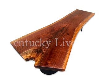 Organic Walnut Coffee Table- Large Live Edge Table- Walnut- Reclaimed- Contemporary Coffee Table- Upcycled- Industrial- Artistic Furniture
