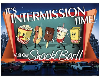Intermission Time Snack Bar Wall Decal #42486