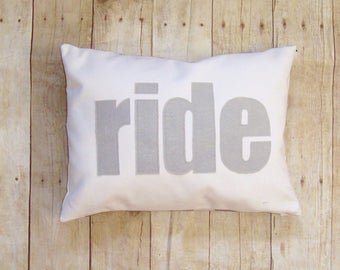 ride pillow cover - Horse - equestrian pillow - horse pillow - horse riding pillow cushion - equestrian or horse lover gift - felt Applique