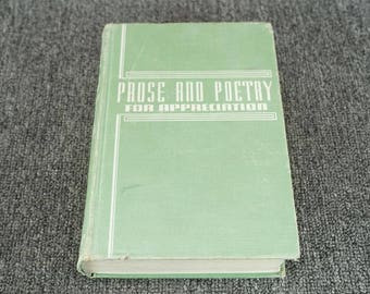 Prose And Poetry For Appreciation By Elizabeth Frances Ansorge C. 1942
