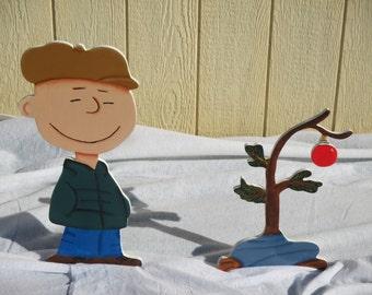 Peanuts Charlie Brown Christmas Tree Yard Sign