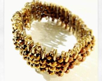 Safety Pin Bracelet in Gold