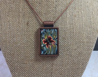 Psychedelic Butterfly Necklace Pendant
