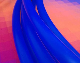 "UV Blue Polypro Hula Hoop--5/8"" semi transparent"