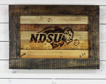 NDSU Bison Collectible art