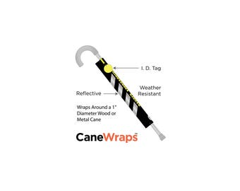 CaneWrap - Reflective Black