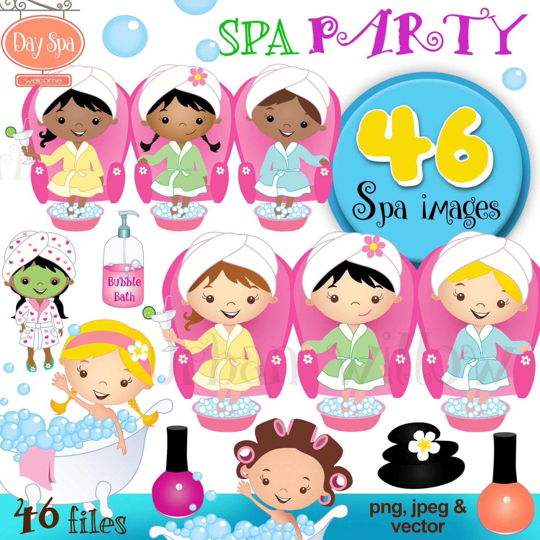 Pedicure Clipart: Spa Party Clipart Day Spa Clipart Clipart Bubbles Clipart