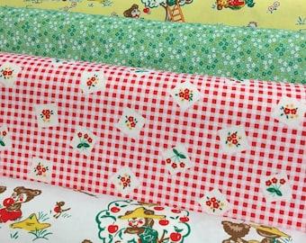 Apple Farm - From Elea Lutz - Fabric For Riley Blake - Fat Quarter Set - 6 Prints - 13.50 Dollars