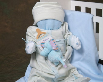 Baby Shower Baby Shower Baby Shower Gift Cuddle Me Babies are babies that are made of all baby items Baby Shower decoration Baby Boy Shower