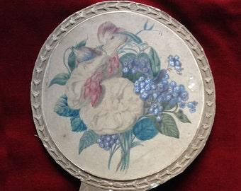 Antique victorian / napoleon III floral fan