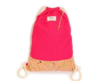 Ochos | Pink Cork Sack Bag