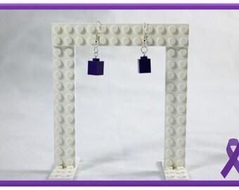 Lego Earrings - 1sie (Purple)
