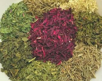 Sweet Miss Hibis - Organic Tea, Hibiscus tea, Oatstraw, Nettle, Peppermint