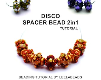 Disco Spacer bead 2in1 - PDF beading pattern - Instant Download