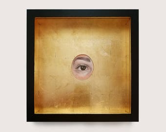 Lover's Eye - Framed Oil and Gold Leaf #13
