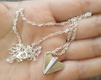 One Direction Harry Paper Airplane Pendant Necklace, Fan Jewelry, Paper Airplane, Necklace, 1D Jewelry