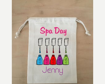 Spa Day favor bag, Bachelorette Party, Slumber Party Gift, Gift for her, custom favor bag, oh shit kit