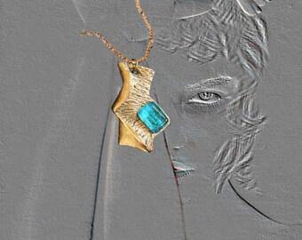 Pendant bronz, glass