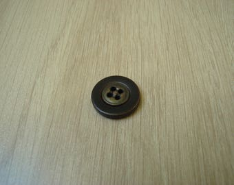 round leather and old brass buttons
