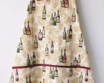 Wine Bottles All Over Bib Apron  #2046