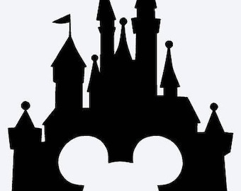 Disney Castle with Mickey Opening Vinyl Decal Sticker
