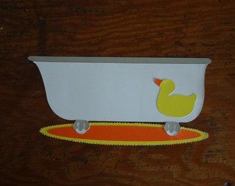Scrapbooking ~ Bath Tub with duck