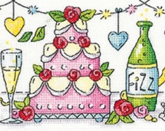 Heritage Crafts - Wedding Day Cross Stitch Kit from the Karen Carter Collection