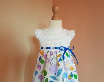 crochet fabric dress pattern, sizes 1 to 5 years old, crochet pattern, baby crochet pattern, toddler crochet dress pattern