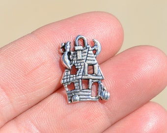 1 Silver Haunted  House Charm SC1298