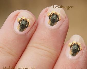 Hond Nail Art Stickers, Leonburger Nail Art Stickers, Leonberger Nail Art, nagel-Stickers, stickers, leuke cadeau